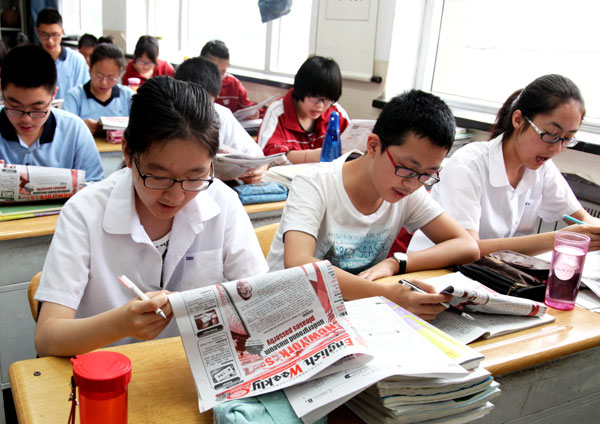 The English weekly prepares Chinese students for Gaokao